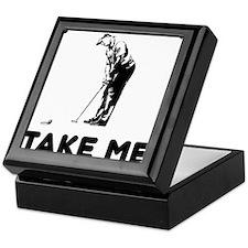 Take Me Golfing Keepsake Box