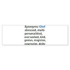 Synonyms: Chef Bumper Car Sticker