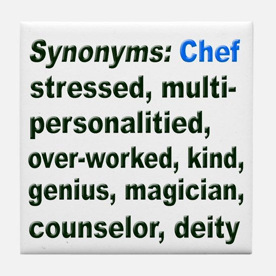 Synonyms: Chef Tile Coaster