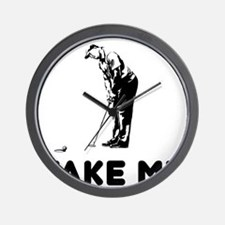 Take Me Golfing Wall Clock