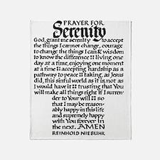 FULL SERENITY.PRAYER Throw Blanket
