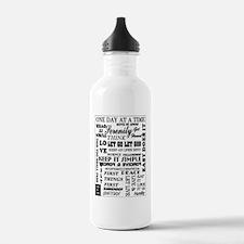 SLOGANS.12 STEP Water Bottle