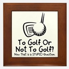 To Golf Or Not To Golf Framed Tile