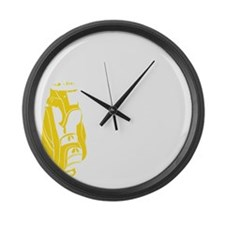Whos Your Caddy copy Large Wall Clock