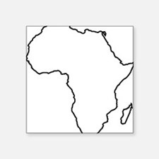 """African continent outline Square Sticker 3"""" x 3"""""""