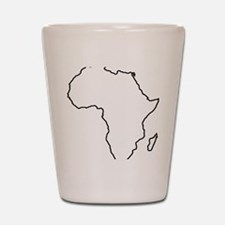 African continent outline Shot Glass