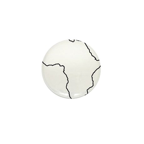 African continent outline Mini Button