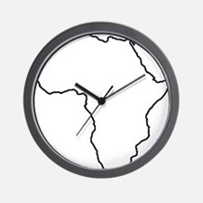 African continent outline Wall Clock