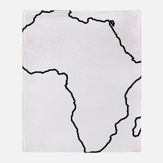 African continent outline Throw Blanket