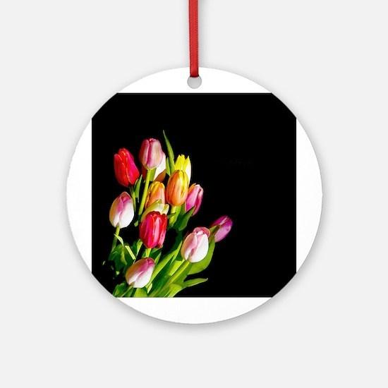 Tulips Round Ornament