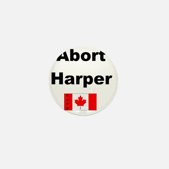 Abort Harper Mini Button