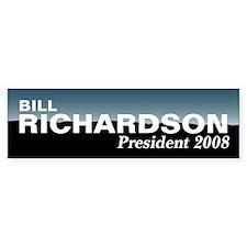 BILL RICHARDSON 2008 Bumper Bumper Sticker