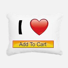 i-heart-add-cart-buttons Rectangular Canvas Pillow