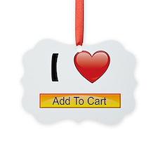 i-heart-add-cart-buttons-03 Ornament