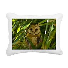 Palm Tree Owlet Rectangular Canvas Pillow