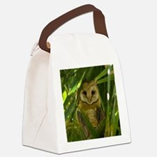 Palm Tree Owlet Canvas Lunch Bag