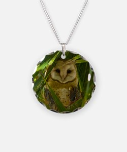 Palm Tree Owlet Necklace