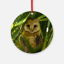 Palm Tree Owlet Round Ornament