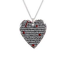 fibonacci-pi_coaster Necklace Heart Charm