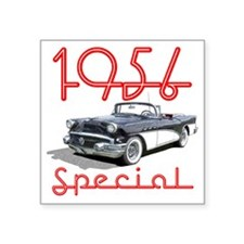 "56BuickSpConv-10 Square Sticker 3"" x 3"""