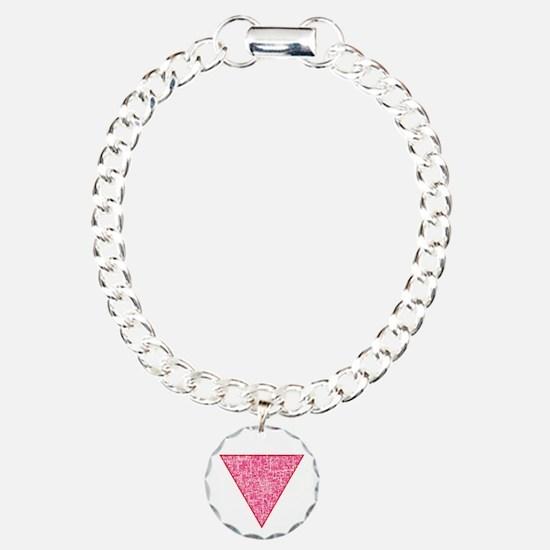 Pink Triangle distressed Bracelet