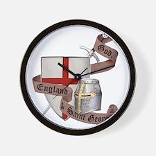 2-knights templar non nobis st george Wall Clock