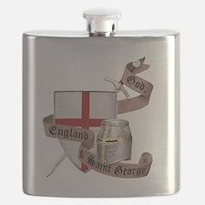2-knights templar non nobis st george Flask