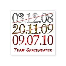 "UK_dates_teamspaceheater Square Sticker 3"" x 3"""