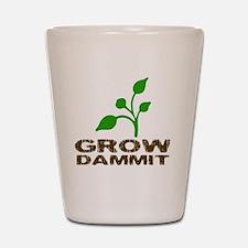 growDammitLite Shot Glass
