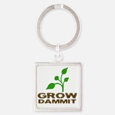 growDammitLite Square Keychain