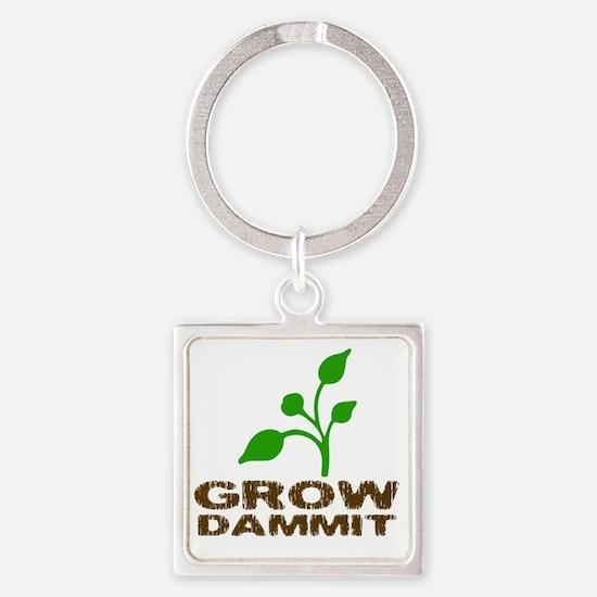 growDammitLite Square Keychain