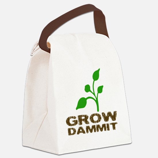 growDammitLite Canvas Lunch Bag