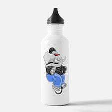 elephant_unicycle Water Bottle
