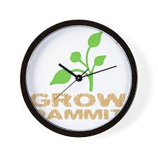 growDammitDark Wall Clock