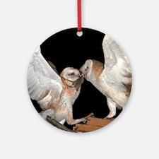 Mouse Handoff Round Ornament