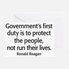 Ronald Reagan Quote Limited Governme Greeting Card