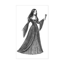 gothic lady with fan full Decal