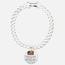 Reagan Quote on Freedom Charm Bracelet, One Charm