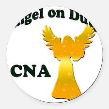 Angel on duty cna copy Round Car Magnet