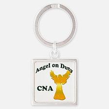 Angel on duty cna copy Square Keychain