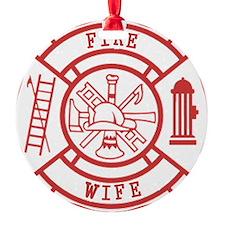 fire wife maltese cross Ornament