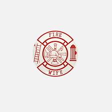 fire wife maltese cross Mini Button