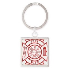 fire wife maltese cross Square Keychain
