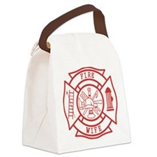 fire wife maltese cross Canvas Lunch Bag