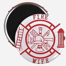 fire wife maltese cross Magnet