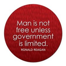 Reagan on Limited Government Round Car Magnet