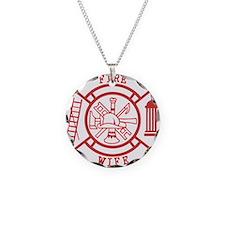 fire wife maltese cross Necklace