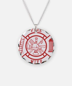 fire wife maltese cross Necklace
