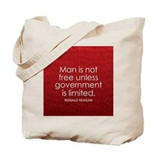 Reagan on Limited Government Tote Bag