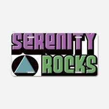 serenity rocks Aluminum License Plate